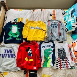 Lot of 7 Toddler Boys Tops